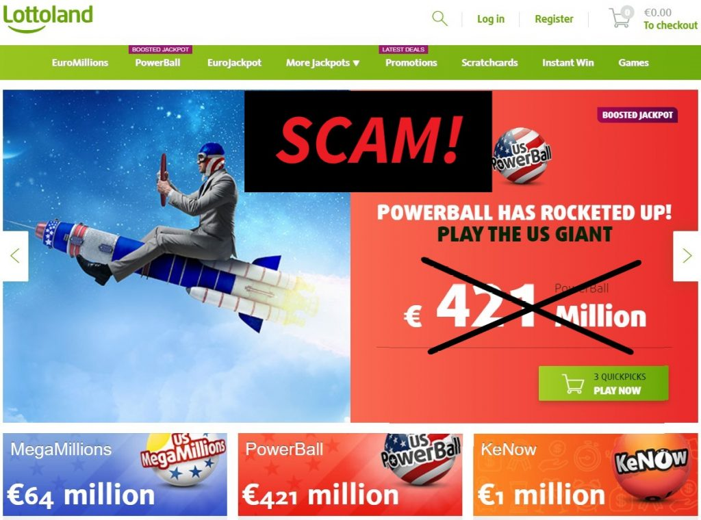 Lottoland online casino scame